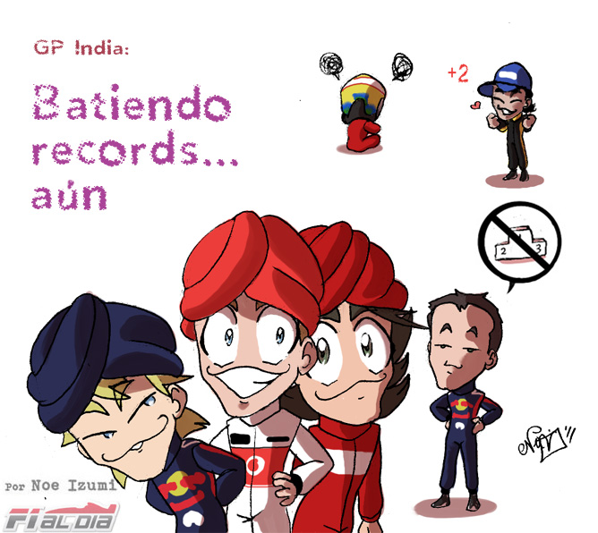 анимешная картинка Noe Izumi по Гран-при Индии 2011