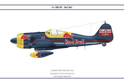 Focke-Wulf Fw-190 A6 in the Red Bull ivery
