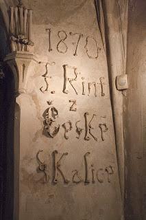 Kostima ispisan potpis uređivača crkve Františeka Rint