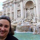 Natalie at Trevi Fountain - Rome, Italy