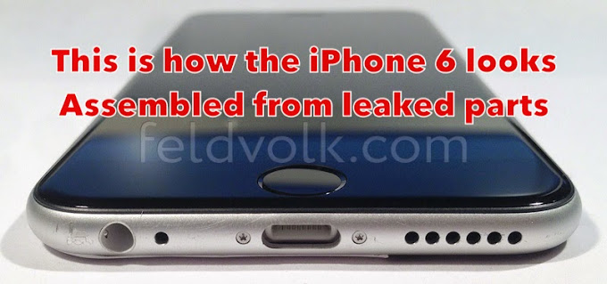 iPhone 6 assembled from leaked parts