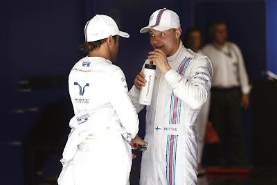 Фелипе Масса и Вальтери Боттас после квалификации на Гран-при Германии 2014
