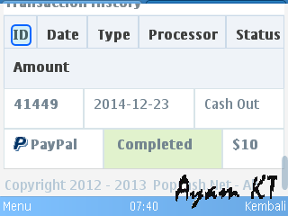 Payout completed