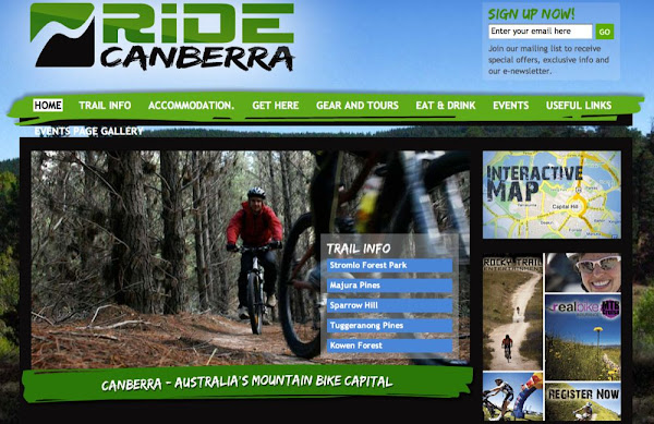 ride canberra screenshot