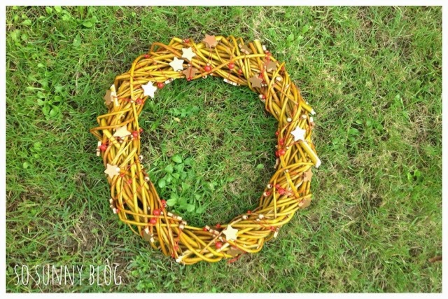 DIY Christmas Wreath. Tutorial Corona Navidad