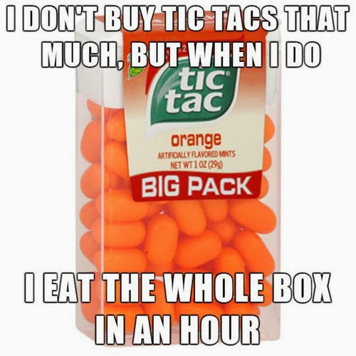 Especially the orange ones