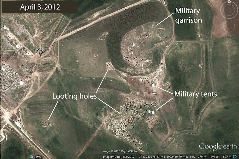 Widespread damage to Syria's ruins seen from space