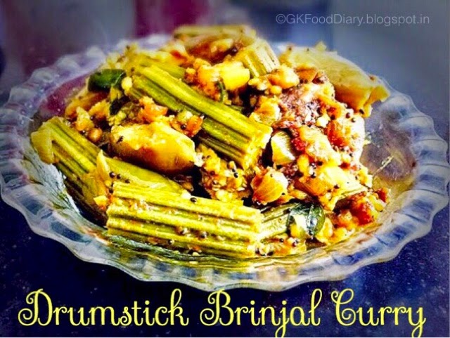 Drumstick Brinjal Curry