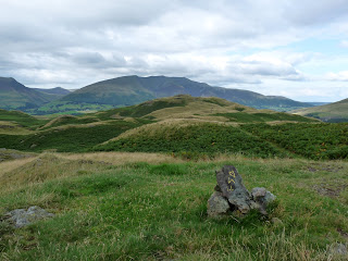 Looking to Blencathra & High Rigg Summit from another top nearby