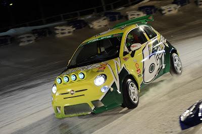 Фелипе Масса за рулем Fiat 500s в гонке по льду на Wrooom 2012