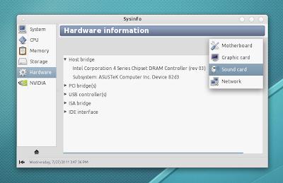 Sysinfo Linux captura de pantalla