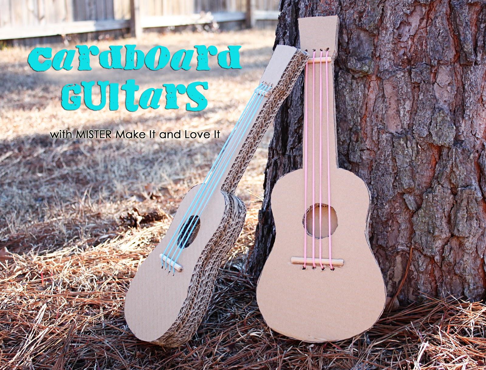 Как сделать гитару из бумаге