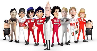 персонажи McLaren Tooned 2013