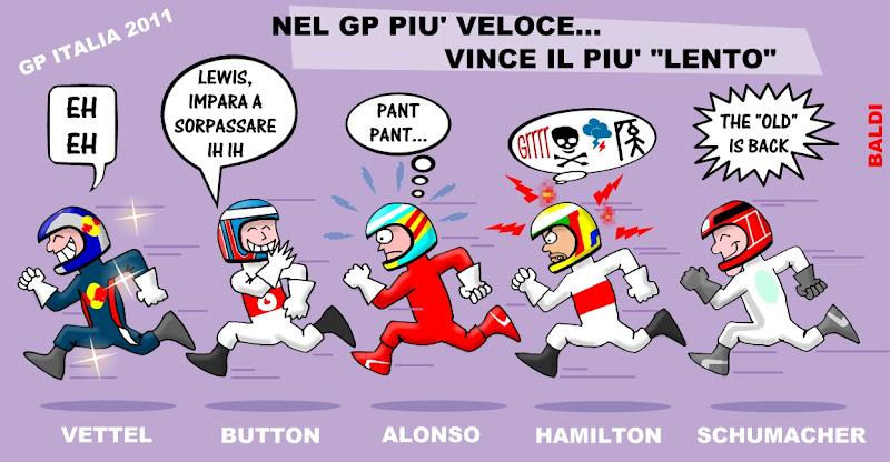 комикс Baldi по Гран-при Италии 2011 на трассе Монца