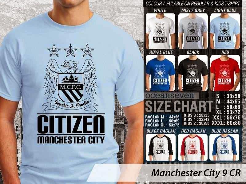 KAOS Man City Manchester City 9 Liga Premier Inggris distro ocean seven