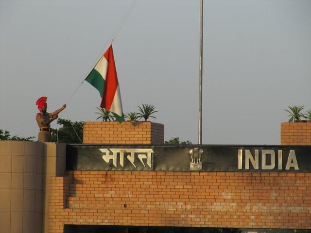 Pakistan India border closing ceremony