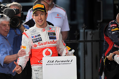 Дженсон Баттон после победы на Гран-при Австралии 2012