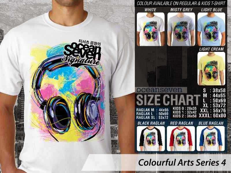 KAOS keren Colourful Arts Series 4 Headset headphone | KAOS Colourful Arts Series 4 distro ocean seven
