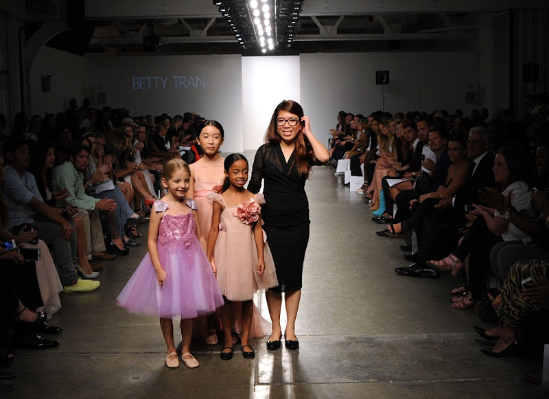Model on the runway during the Betty Tran Spring 2015 Collection at the Fashion Palette Evening and Bridal Wear Spring Summer Show, held at Chelsea Pier 59 in New York City, Sunday, September 7, 2014. Photo by Jennifer Graylock-Graylock.com 917-519-7666
