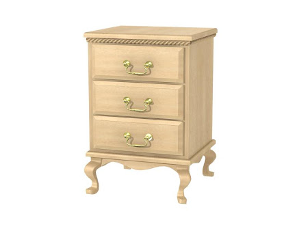 Matching Furniture Piece: Queen Anne Nightstand with Drawers, Oil & Wax Maple