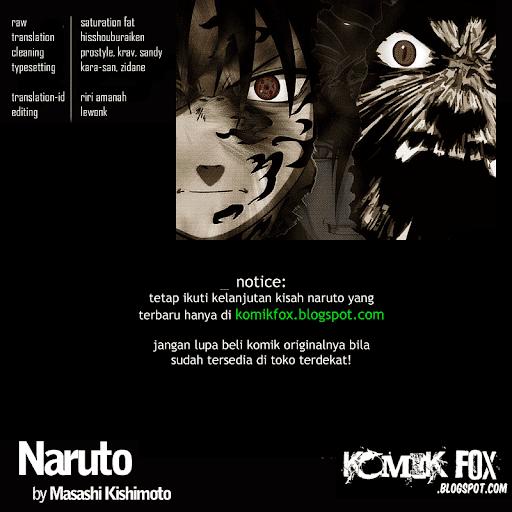 Komik Naruto 541 manga online page credits