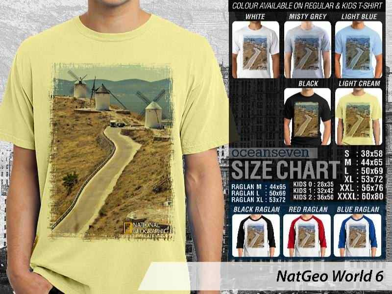 Kaos National Geographic NatGeo World 6 distro ocean seven