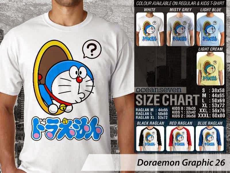 KAOS Doraemon 66 Manga Lucu distro ocean seven