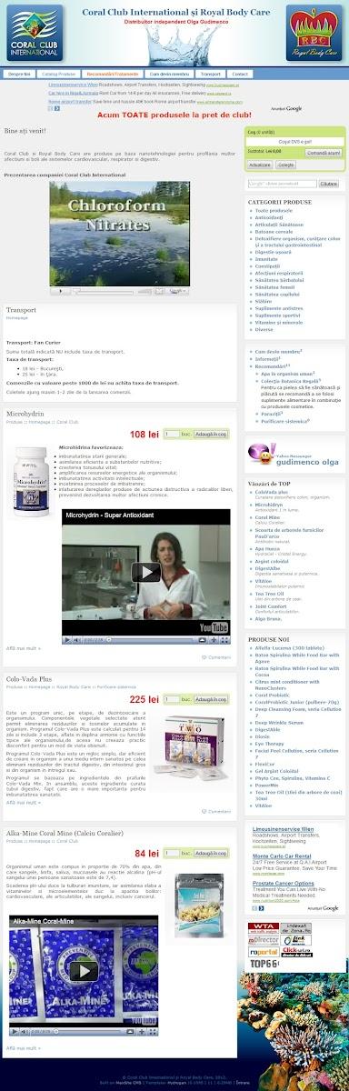 coralclubrbc.com - дистрибьютор Coral Club и Royal Body Care в Молдове и Румынии