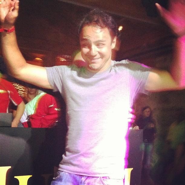 Фелипе Масса танцует на вечеринке Wrooom 2012