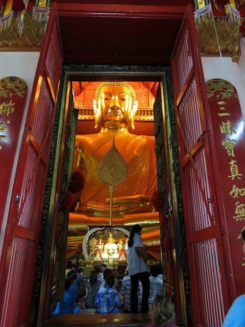 The 19m seated Buddha at Wat Panan Choeng.
