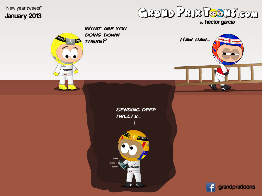 New year tweets - комикс Grand Prix Toons