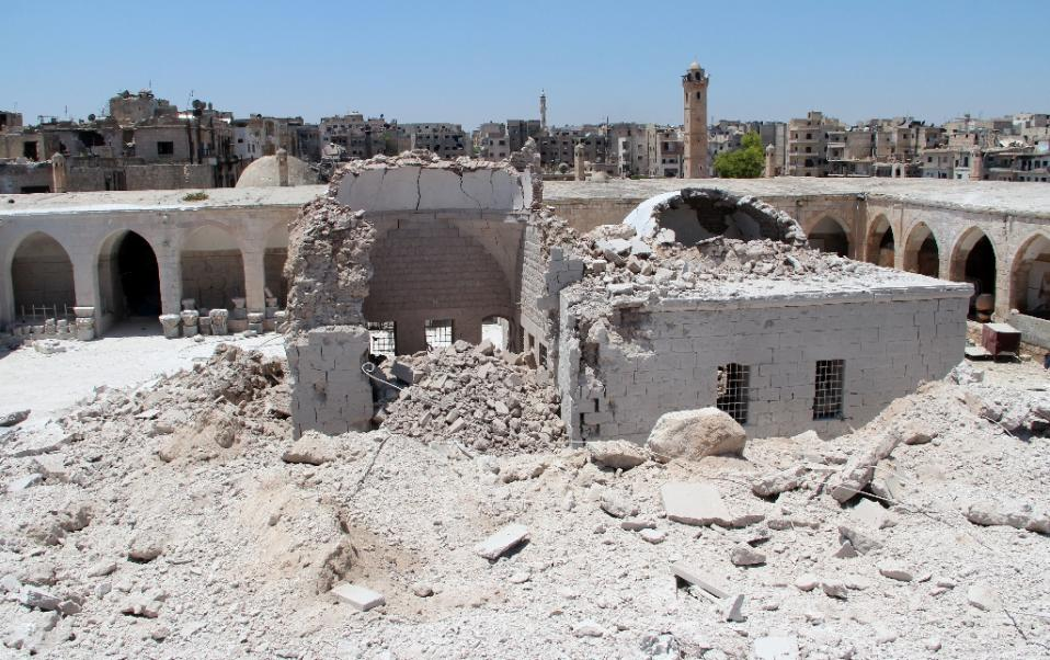 Near East: Famed Syria mosaic museum damaged in barrel bombing