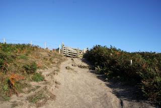 A steep coastal path