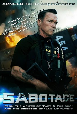 Poster Of Sabotage (2014) In Hindi English Dual Audio 300MB Compressed Small Size Pc Movie Free Download Only At worldfree4u.com