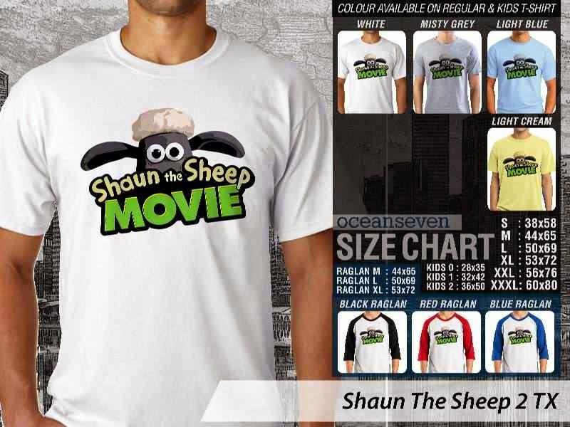 Kaos Movie Shaun The Sheep 2 distro ocean seven