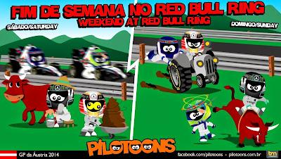 комикс pilotoons по Гран-при Австрии 2014
