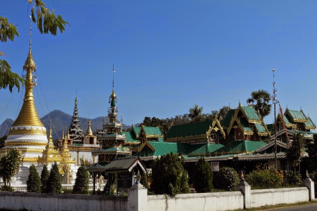 The Myanmar style Wat Chong Klang of Mae Hong Son, Thailand
