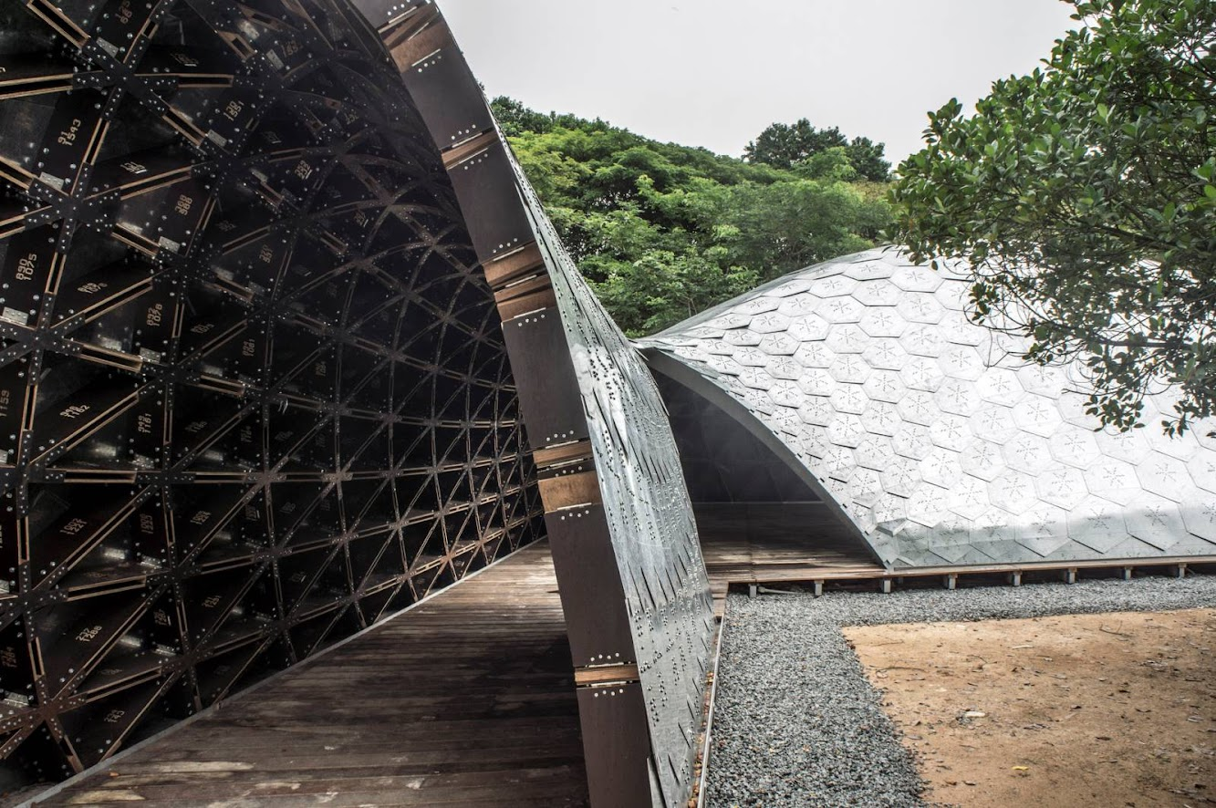 Dover Road, Singapore: Sutd Library Gridshell Pavilion by City Form Lab
