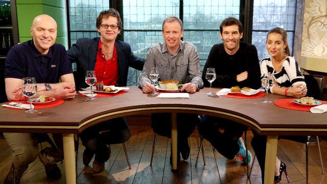 Марк Уэббер в гостях кулинарного шоу Something for the Weekend на BBC 12 февраля 2012