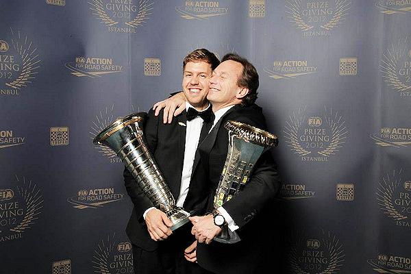 Себастьян Феттель и Кристиан Хорнер на FIA Gala Prize Giving 2012 в Истамбуле