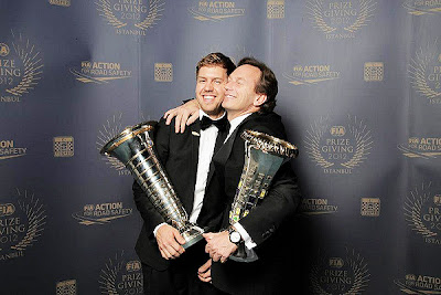 Себастьян Феттель и Кристиан Хорнер на FIA Gala Prize Giving 2012 в Истамбуле