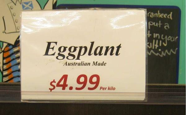 eggplant sign
