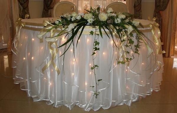 Как оформить зал на свадьбу своими руками недорого фото
