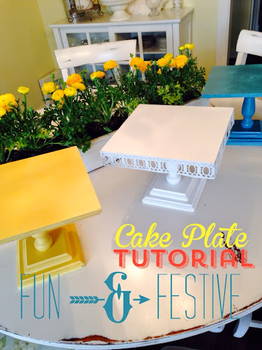 Wooden cake plate tutorial