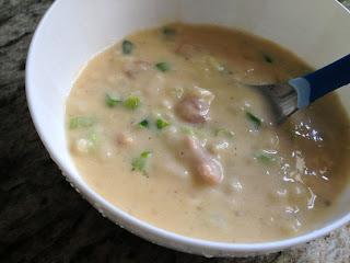 Cheddar & Potato Perogy Soup