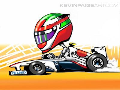 Серхио Перес Sauber 2011 via Kevin Paige Art