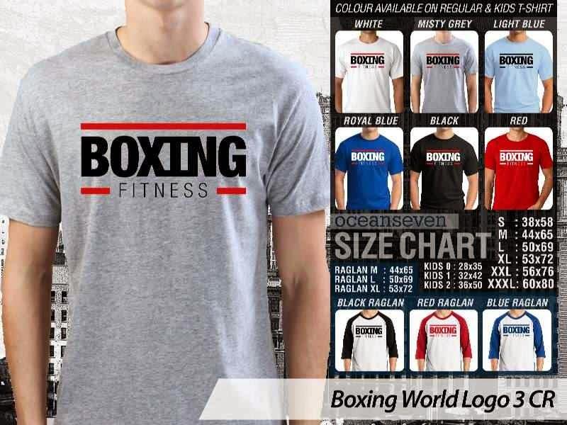 Kaos Olah Raga Sport Boxing World Logo 3 distro ocean seven