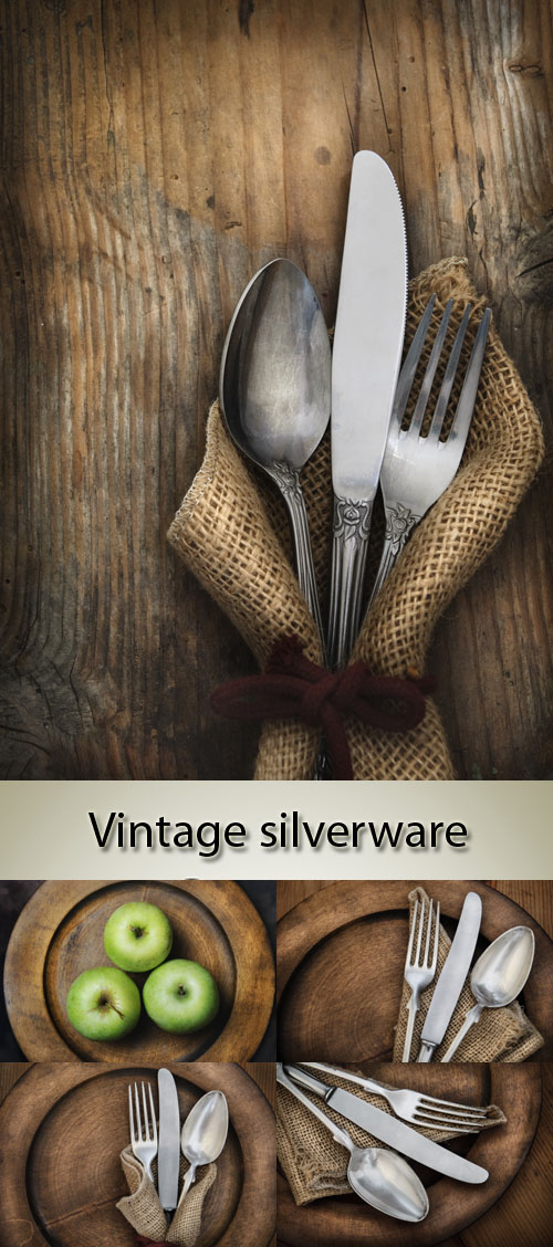 Stock Photo: Vintage silverware