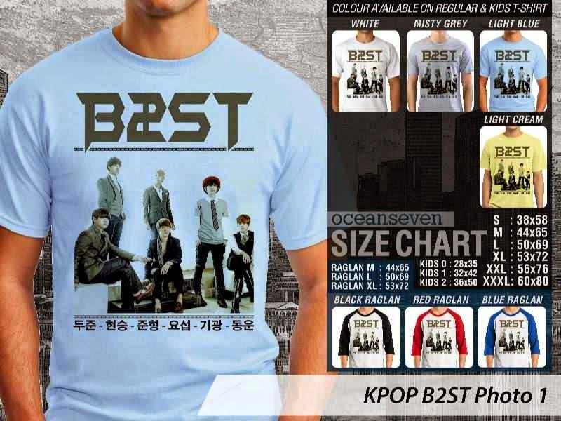Kaos B2st 1 Photo K Pop Korea distro ocean seven