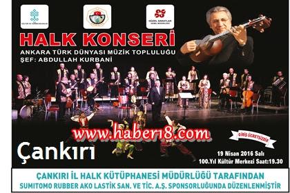 Ankara Türk Dünyası Müzik Topluluğu Konserine Halkımız Davetli